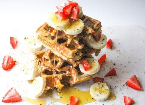 DIY Recipe: CBD-Infused Buttermilk Quinoa Waffles