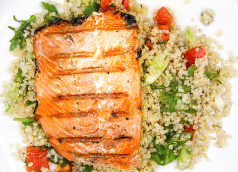 DIY Recipe: Grilled Salmon With CBD-Infused Quinoa Salad