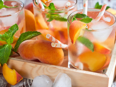 DIY Recipe: Iced Sun Tea with Marijuana-Infused Peach Ice Cubes
