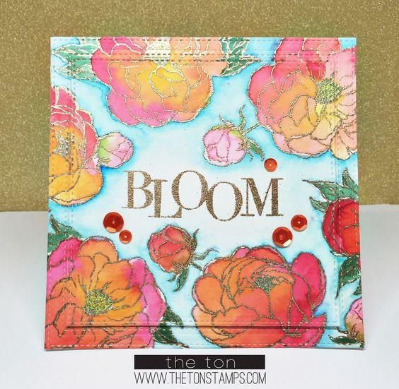 Loose Peonies - The Ton Clear Stamps