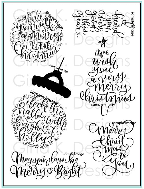 A Very Merry Christmas Stamp Set - Emily Loggans for Gina K
