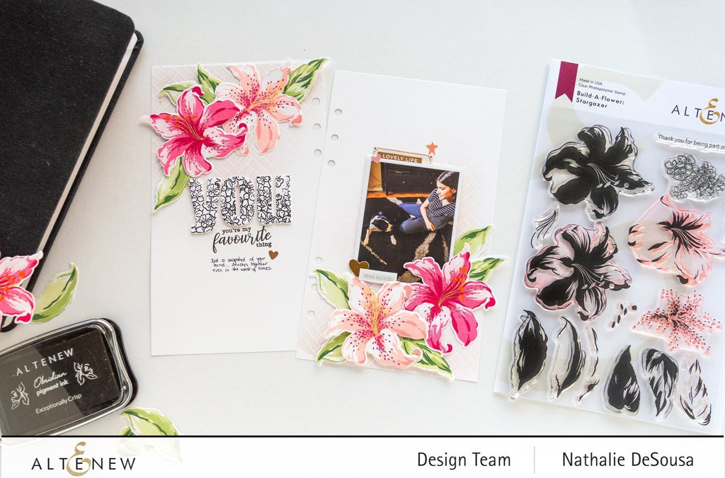 Build A Flower - Stargazer Lily Stamp and Die Bundle