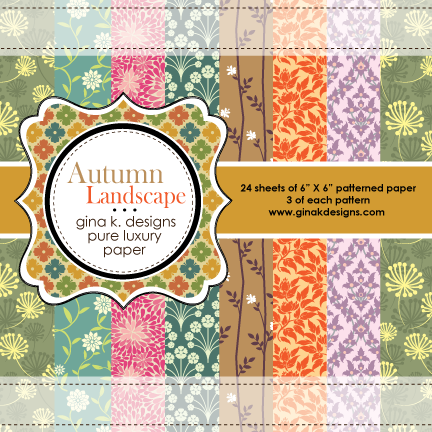 Autumn Landscape Patterned Paper - Gina K