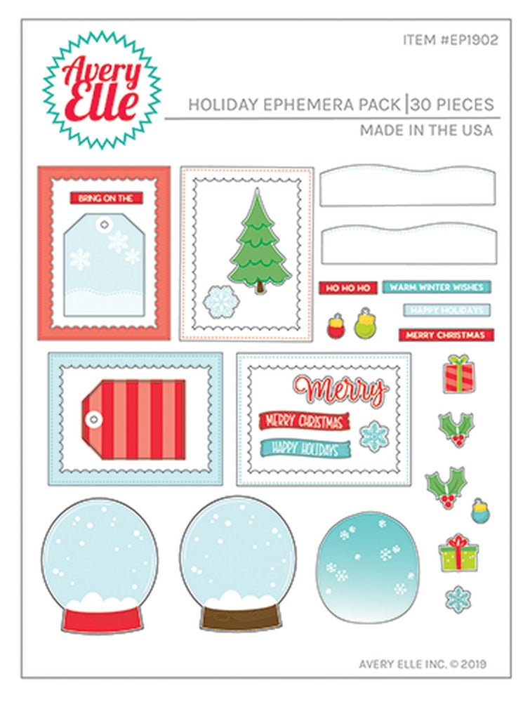 Holiday Ephemera Pack - Avery Elle