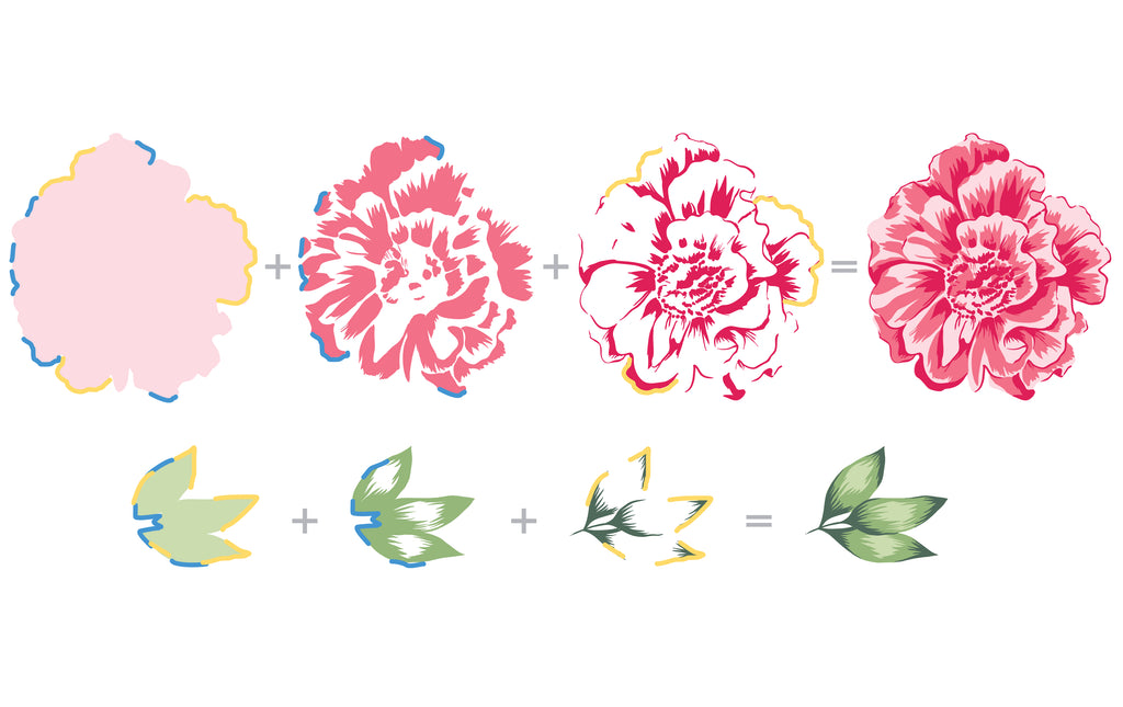 Build a Flower - Camellia Stamp and Die set
