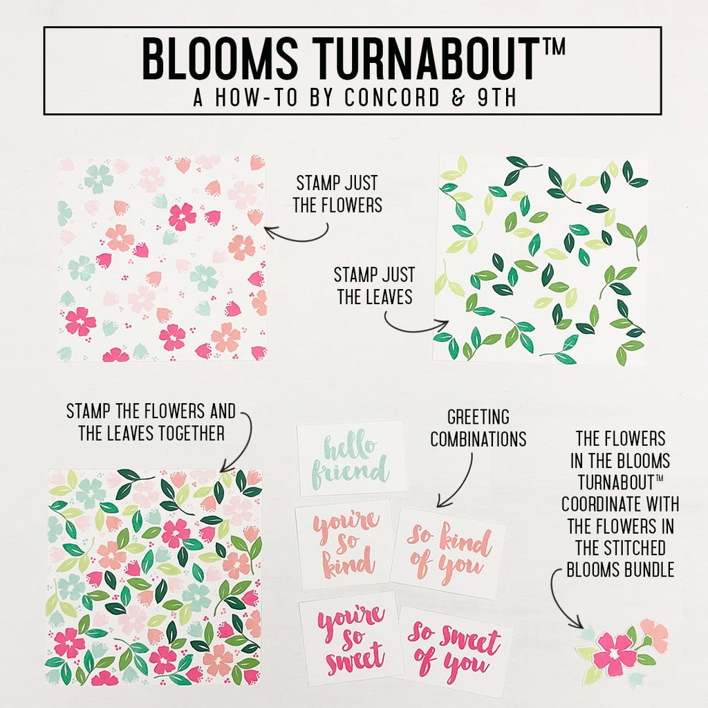 Blooms Turnabout™ Stamp Set