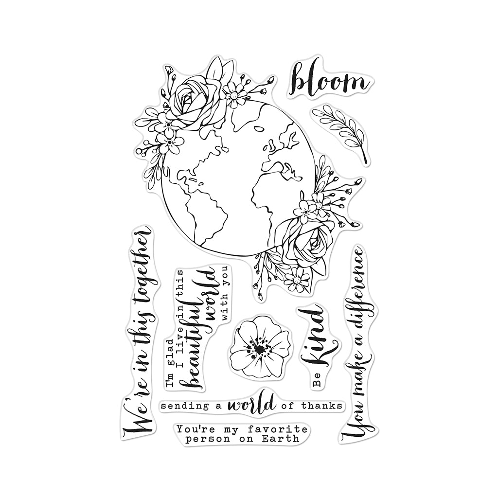 Beautiful World Clear Stamps