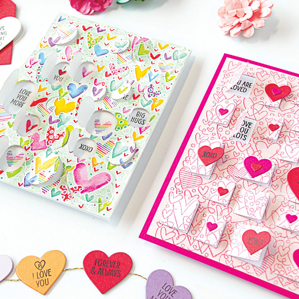All My Heart Peek a Boo Clear Stamps | Hero Arts