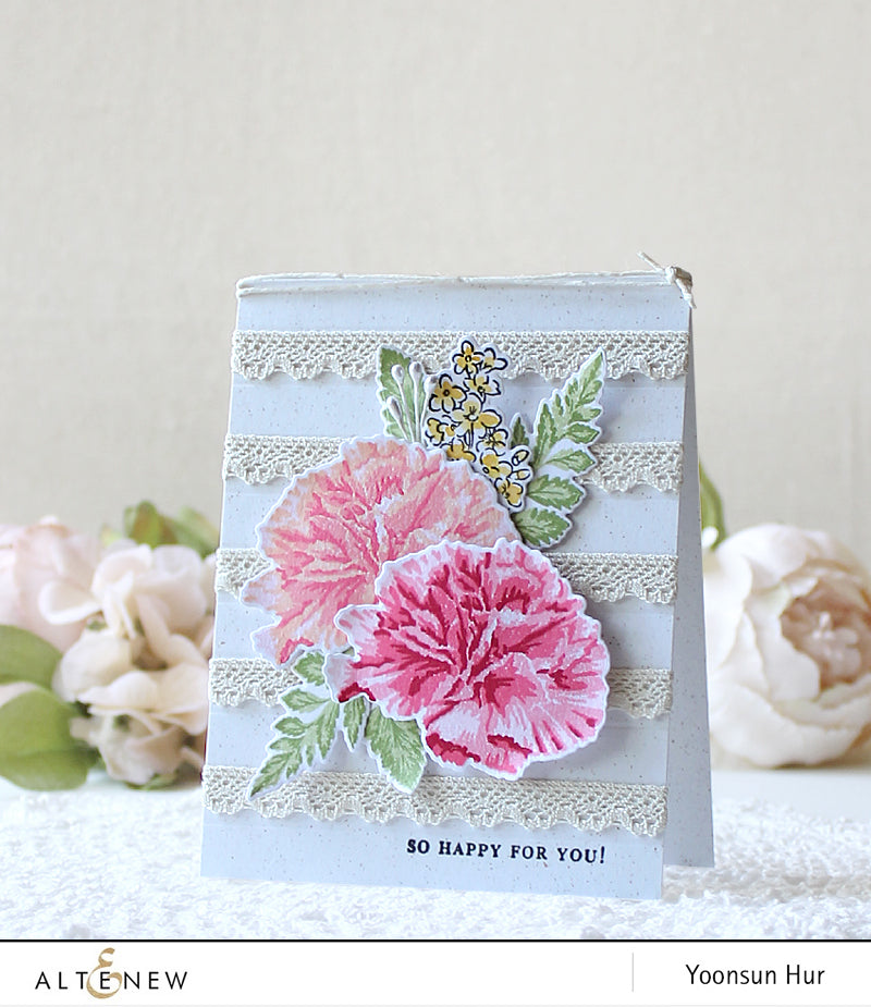 Build A Flower Carnation Stamp and Die Set