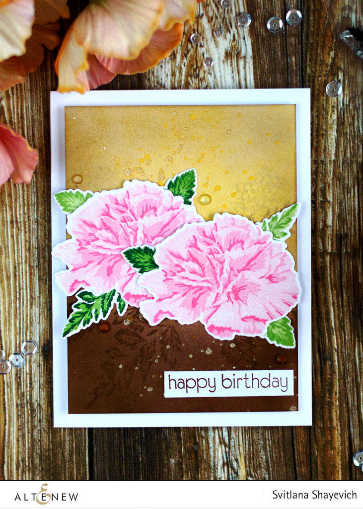 Build A Flower: Carnation Stamp, Die & Ink Bundle