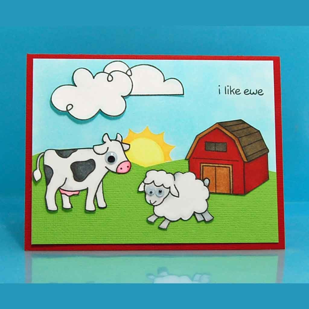 Critters on the Farm Clear Stamps