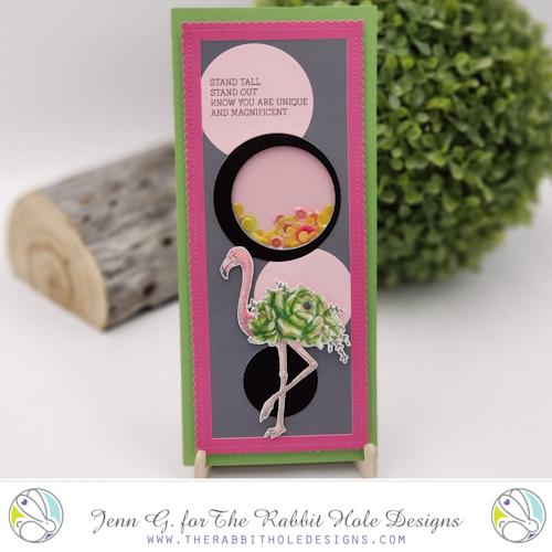 Flamingo Botanical Clear Stamps - The Rabbit Hole Designs