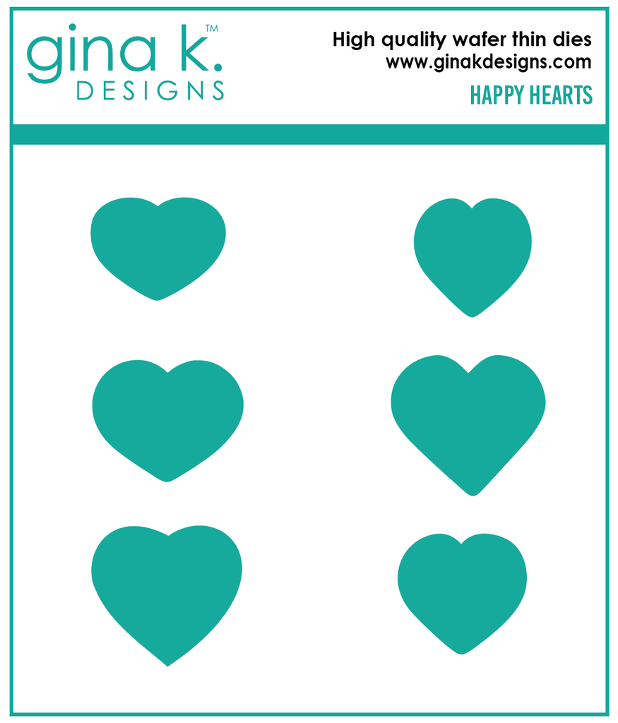 Happy Hearts Coordinating Dies - Gina K