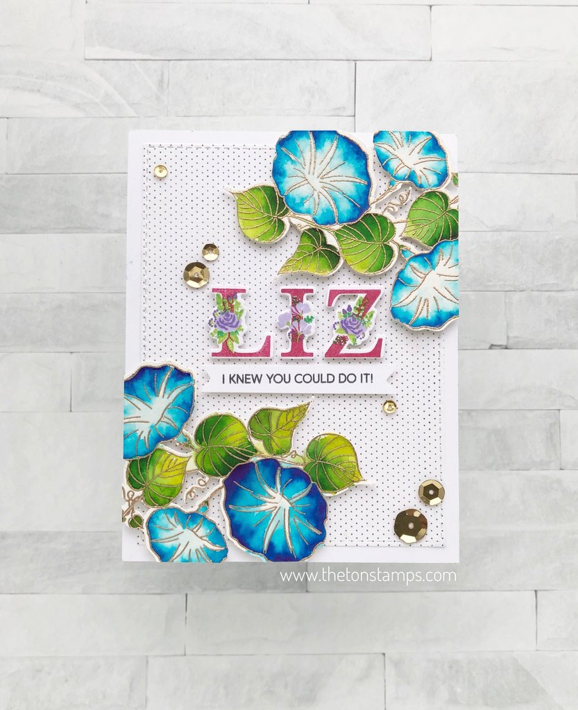 Mini Dots Cling Background - The Ton Stamps