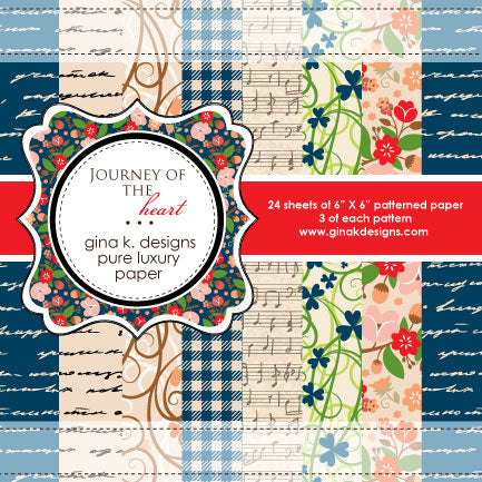 Journey of the Heart Patterned paper - Gina K