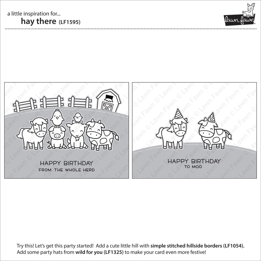 Hay There - Lawn Fawn Clear Stamps