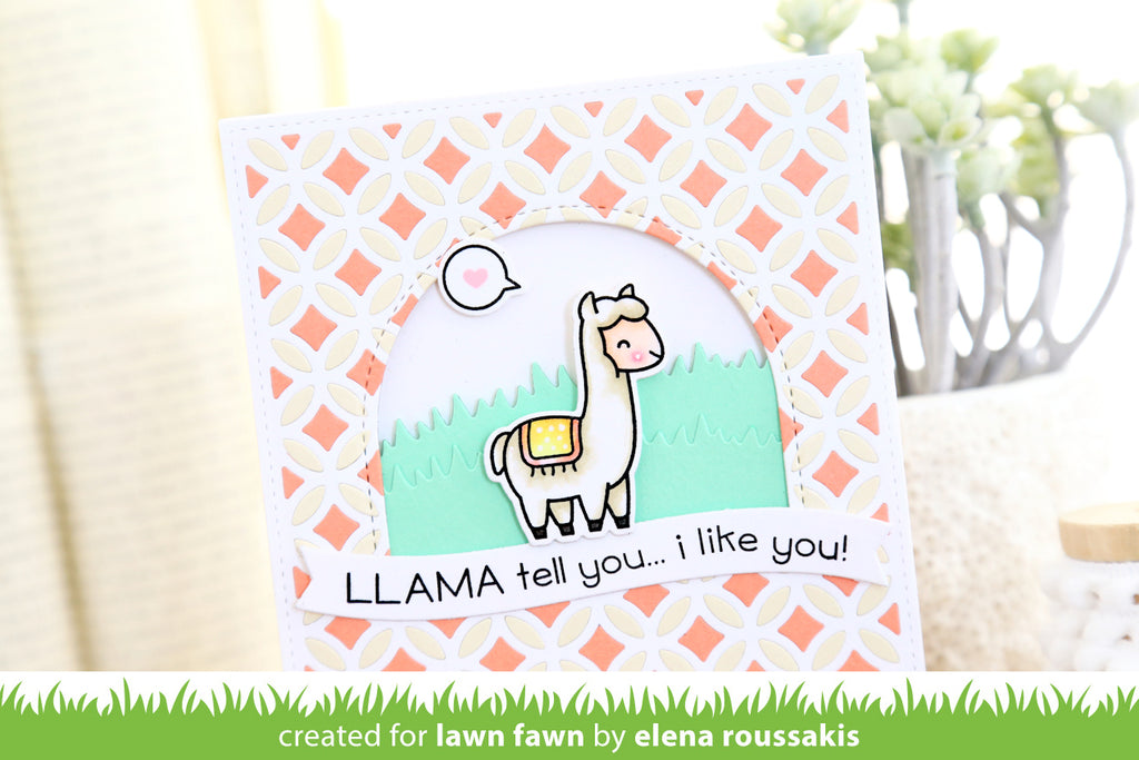 Llama Tell You - Lawn Fawn Clear Stamps