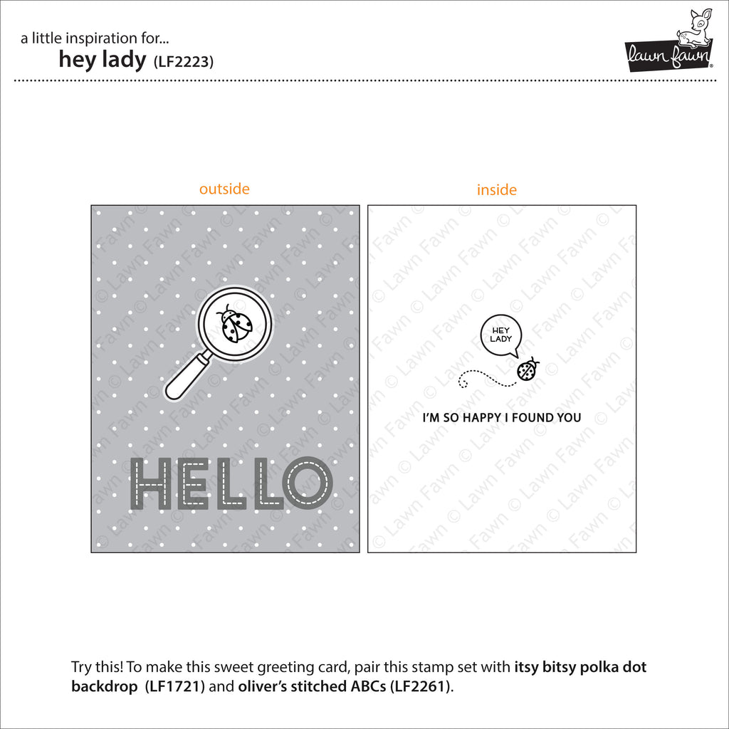 Hey Lady Clear Stamps