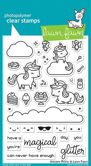 Unicorn Picnic Clear Stamps