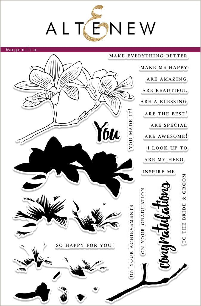 Build a Flower - Magnolia Stamp and Die set