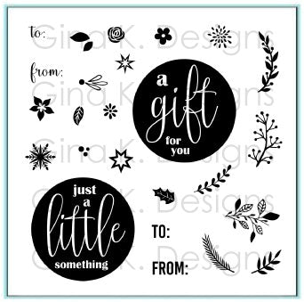 Mini Wreath Builder Template and Stamp Set - Gina K