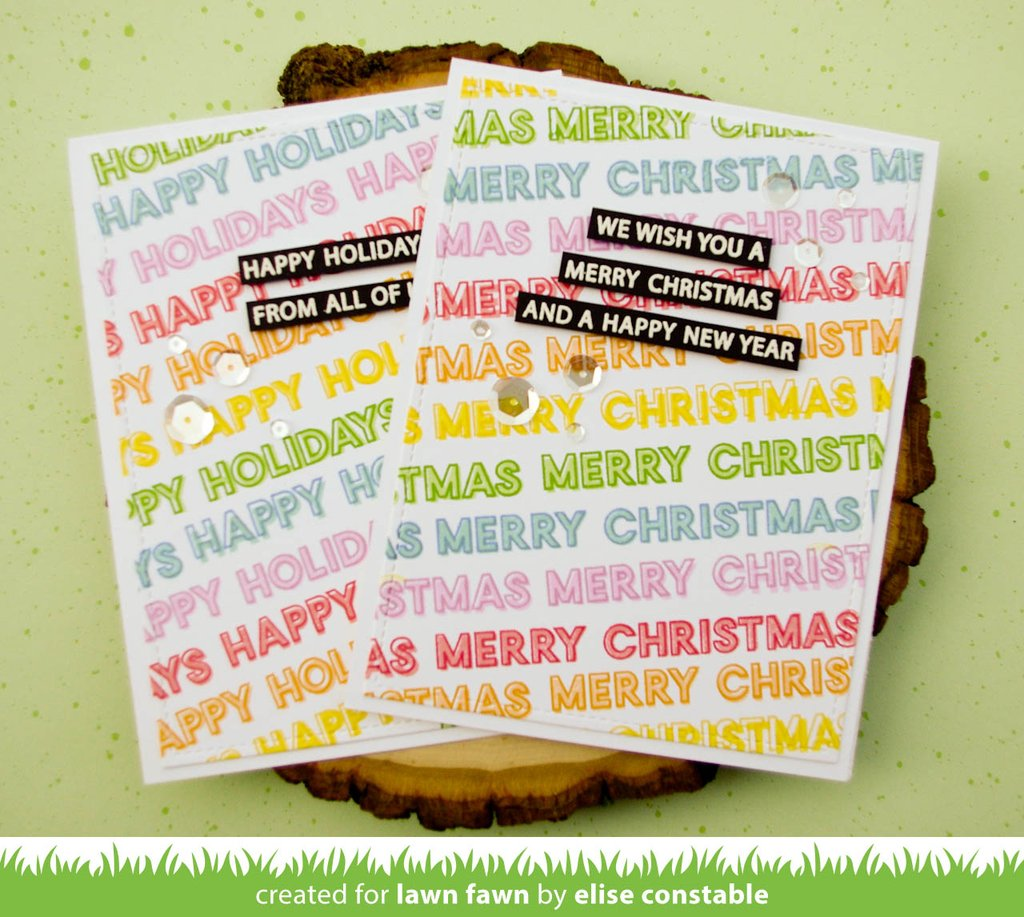 Offset Sayings - Christmas Clear Stamps