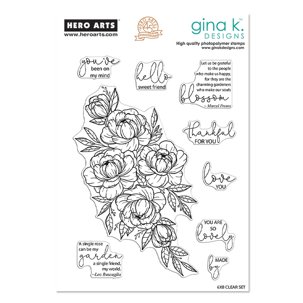 Friendship Blooms - Hero Arts x Gina K Collaboration