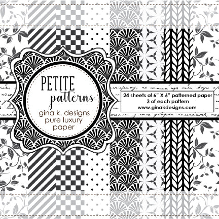 Petite Patterns Patterned Paper - Gina K