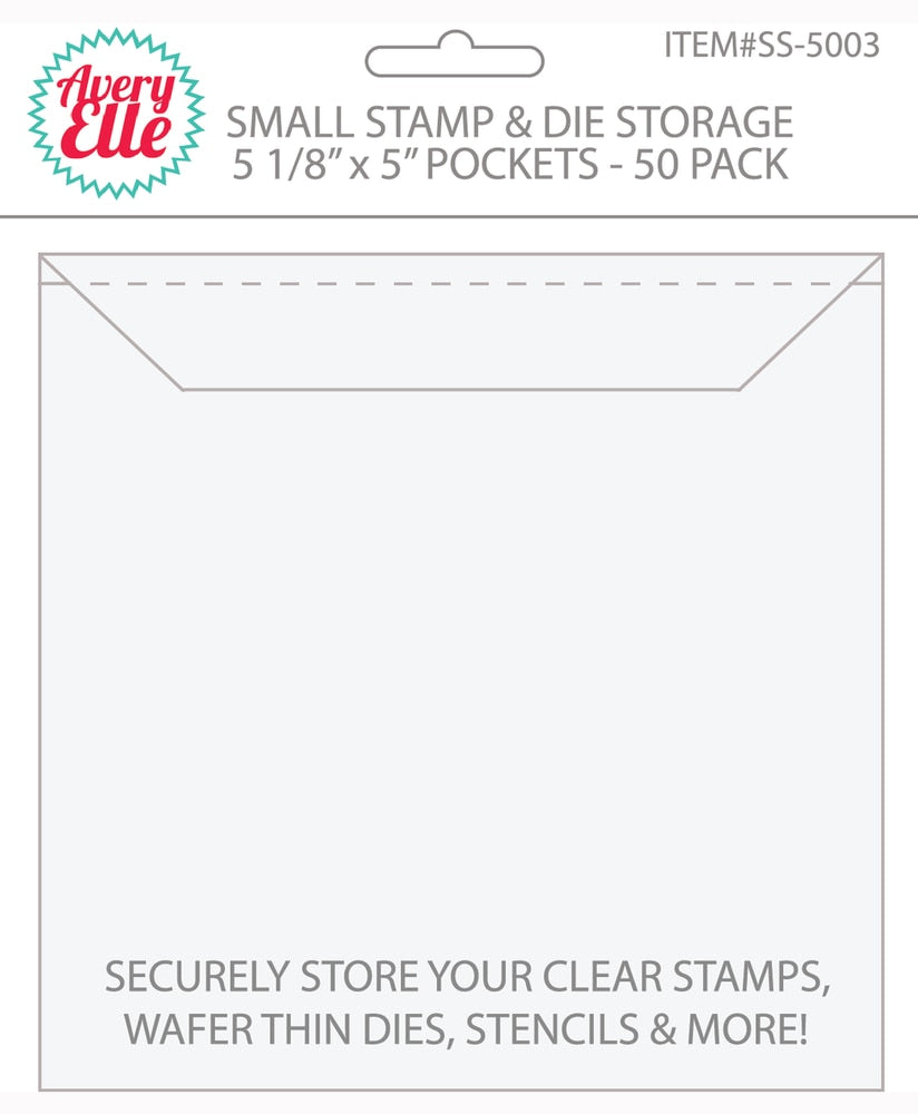 Small Stamp and Die Storage Pockets - 50 pack
