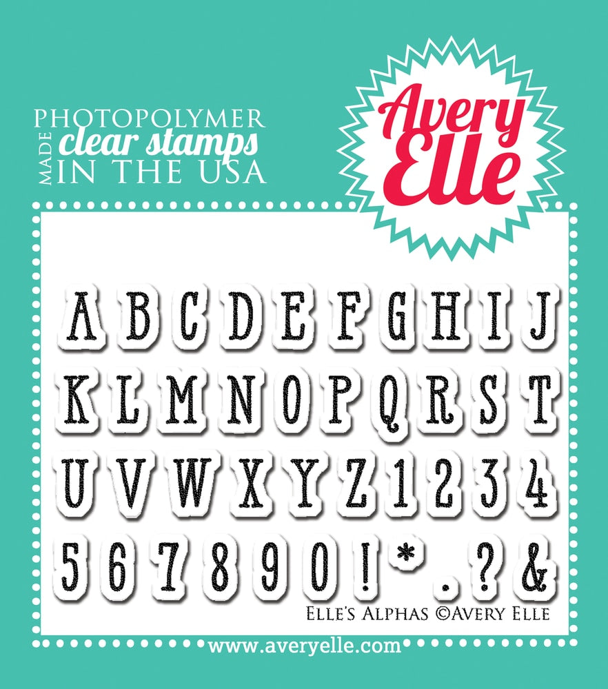 Elle's Alphas - Clear Stamps