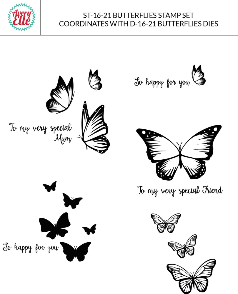 Butterflies - Clear Stamps