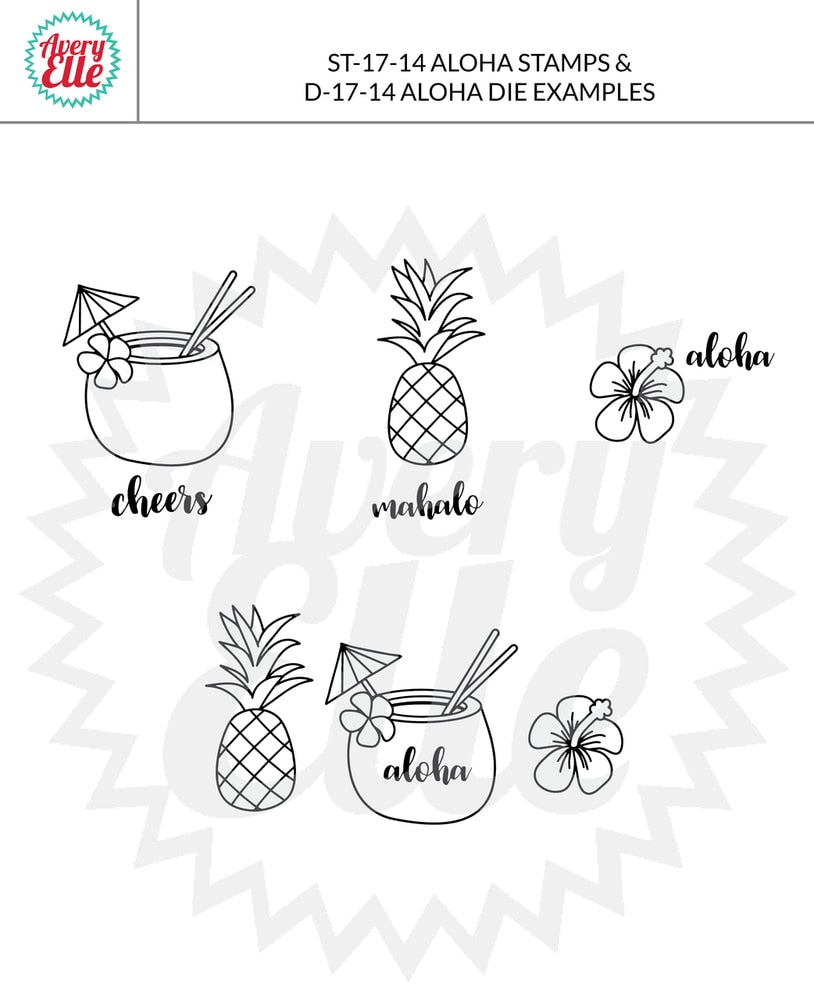 Aloha - clear stamps