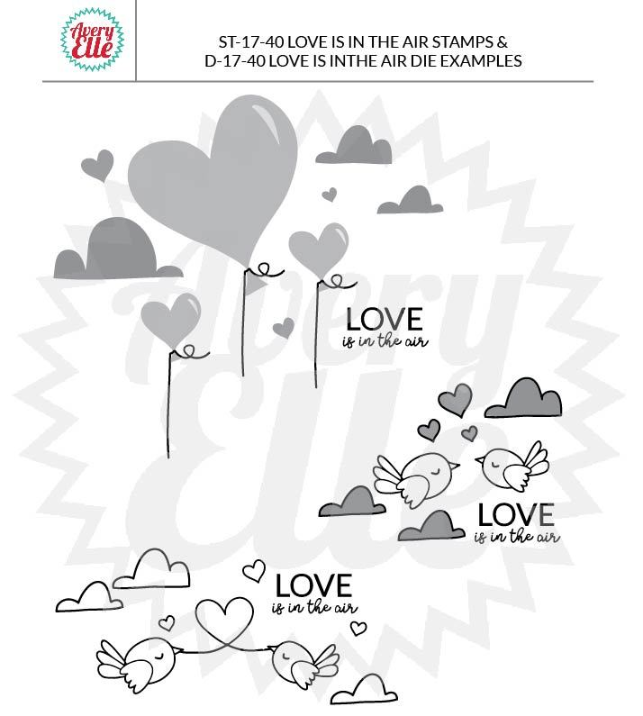 Love Is In The Air - Clear stamps