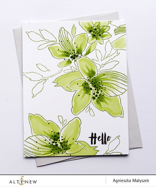 Sketchy Floral Stamp Set