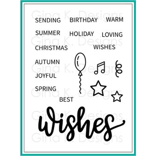 Wishes Stamp Set - Gina K