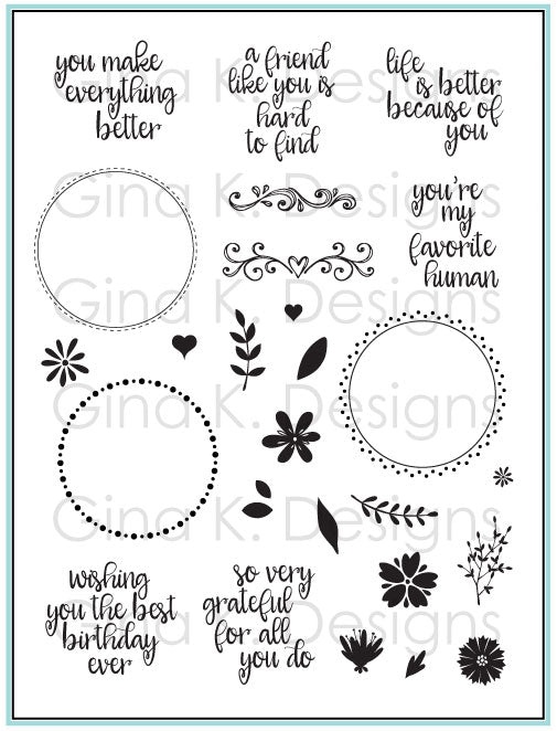 Original Wreath Builder Stamp Set - Gina K