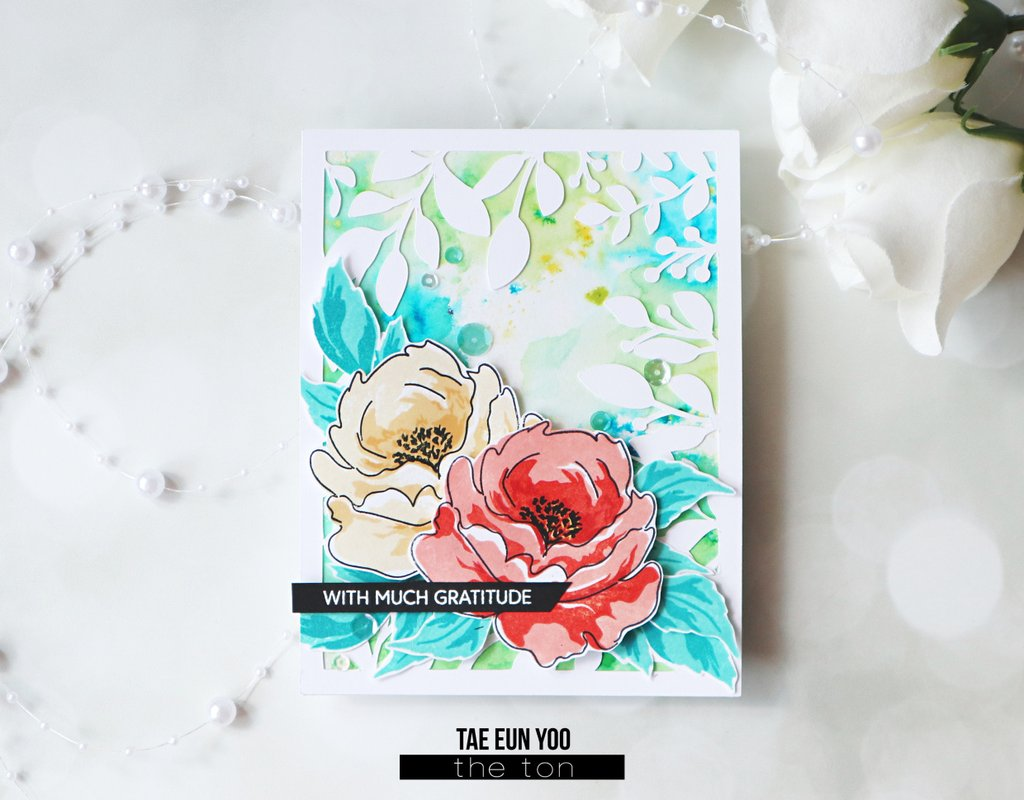 Abstract Peonies - The Ton Clear Stamps