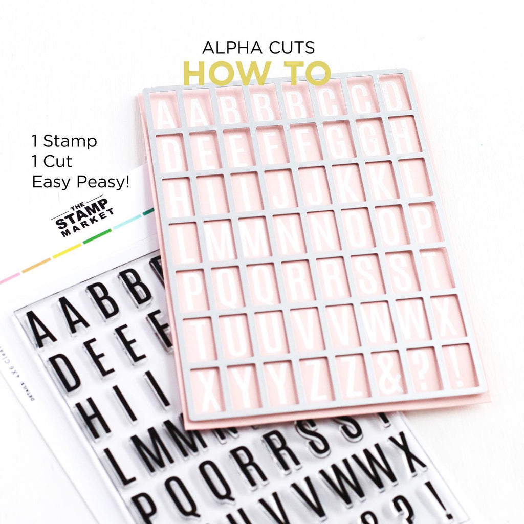 Mini Alpha Cuts Die - The Stamp Market