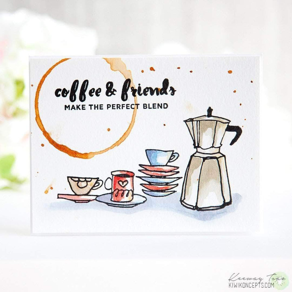 Coffee Ring Stamp Set