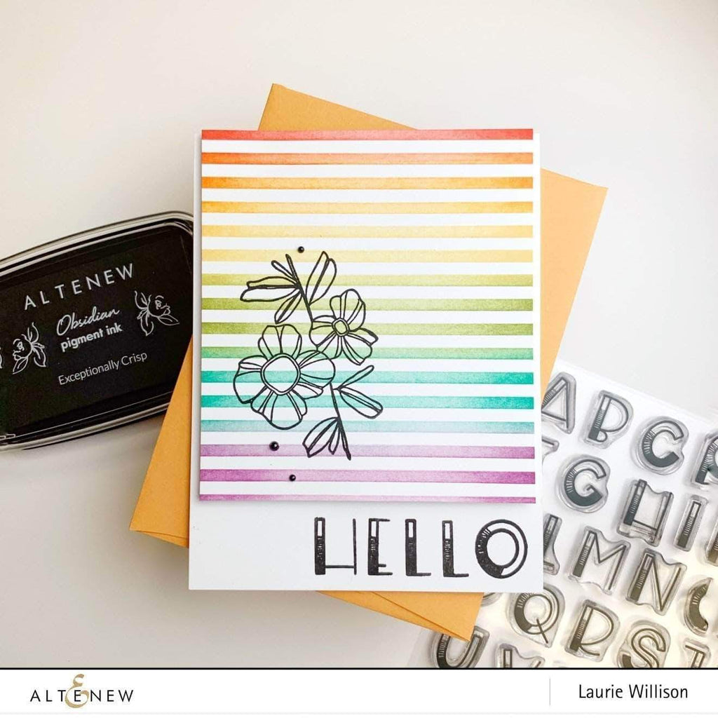 Ombre Alpha Stamp Set