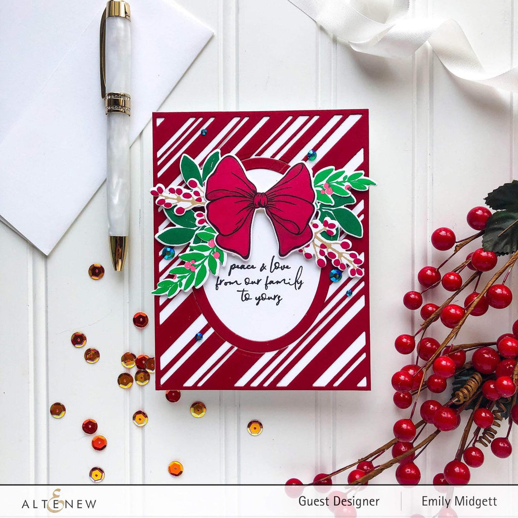Candy Cane Striped Cover Die