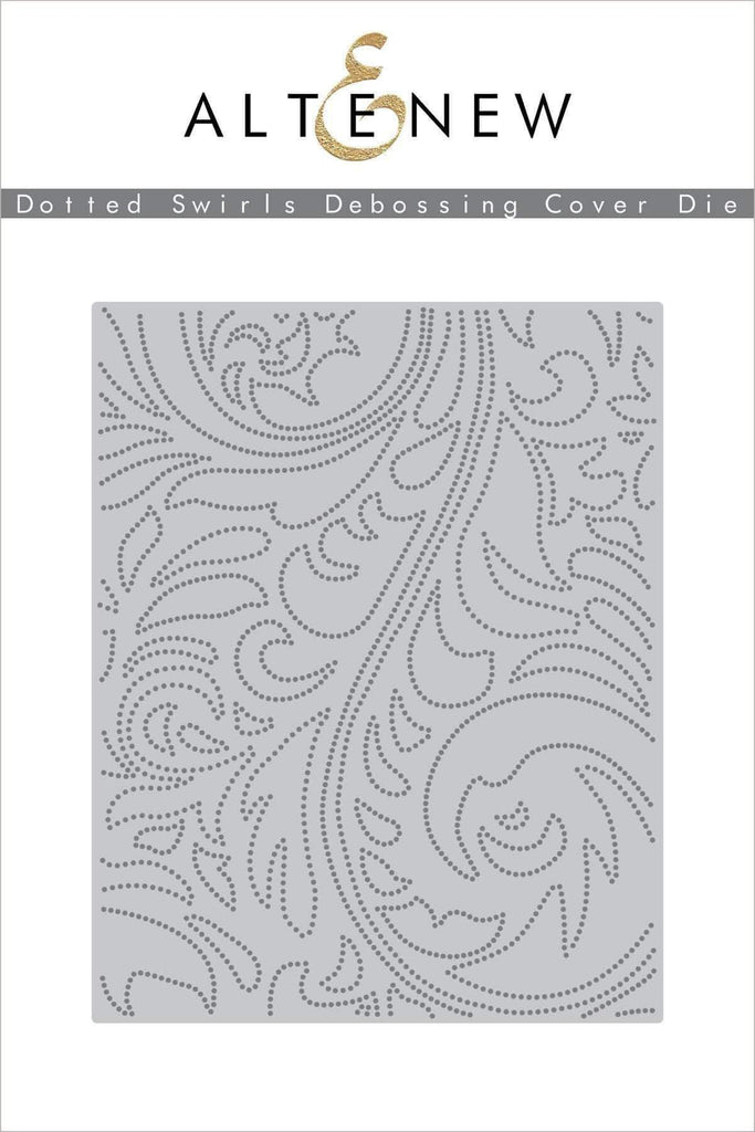 Dotted Swirls Debossing Cover Die