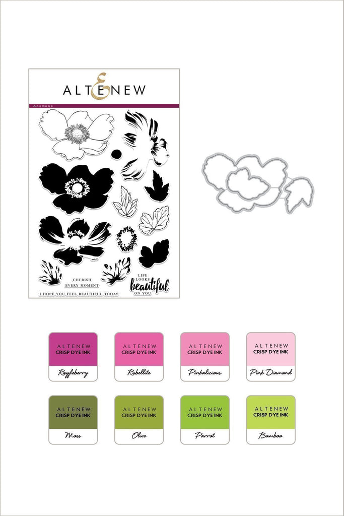 Build A Flower: Anemone Stamp, Die & Ink Bundle