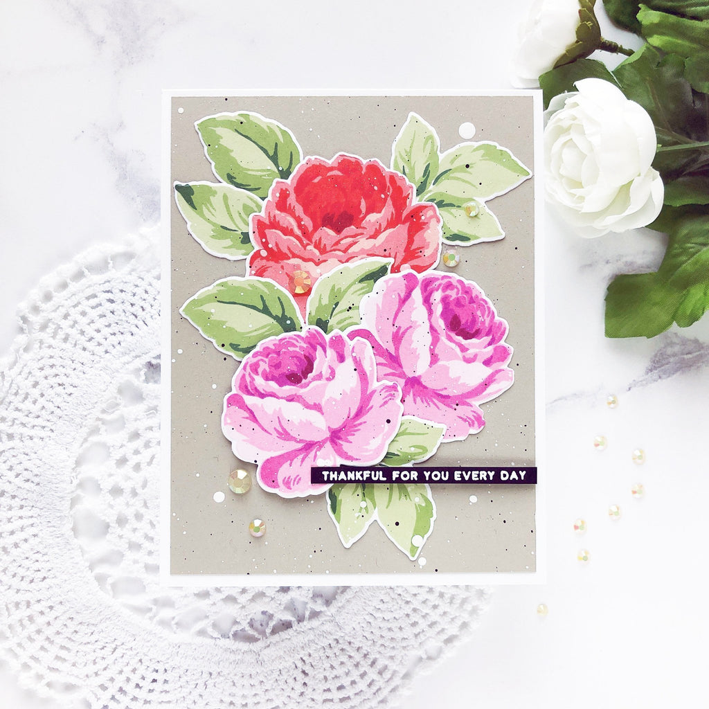 Antique Roses Stamp and Die Bundle