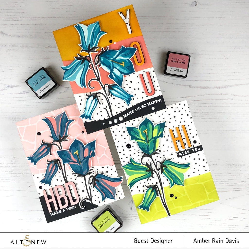 Build a Flower: Bellflower Stamp, Die and Ink Bundle