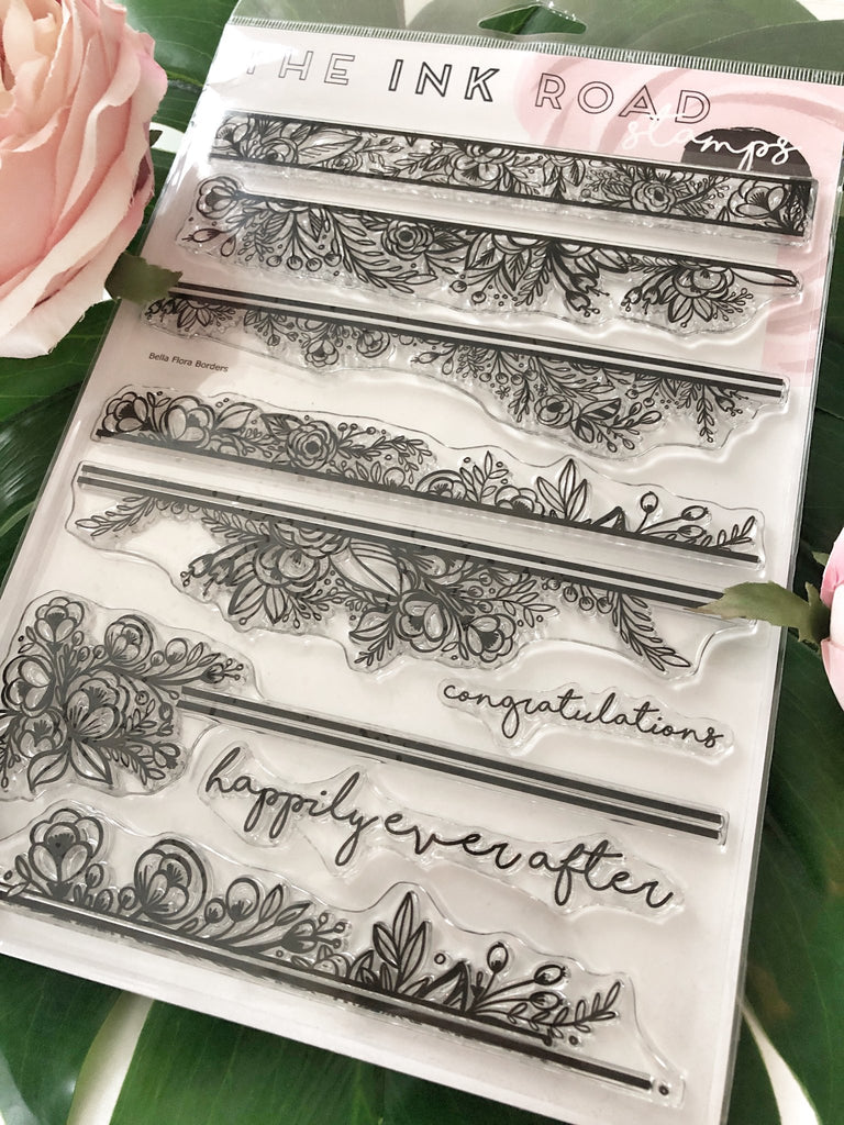 Bella Flora Borders Clear Stamp Set | Ink Road Stamps