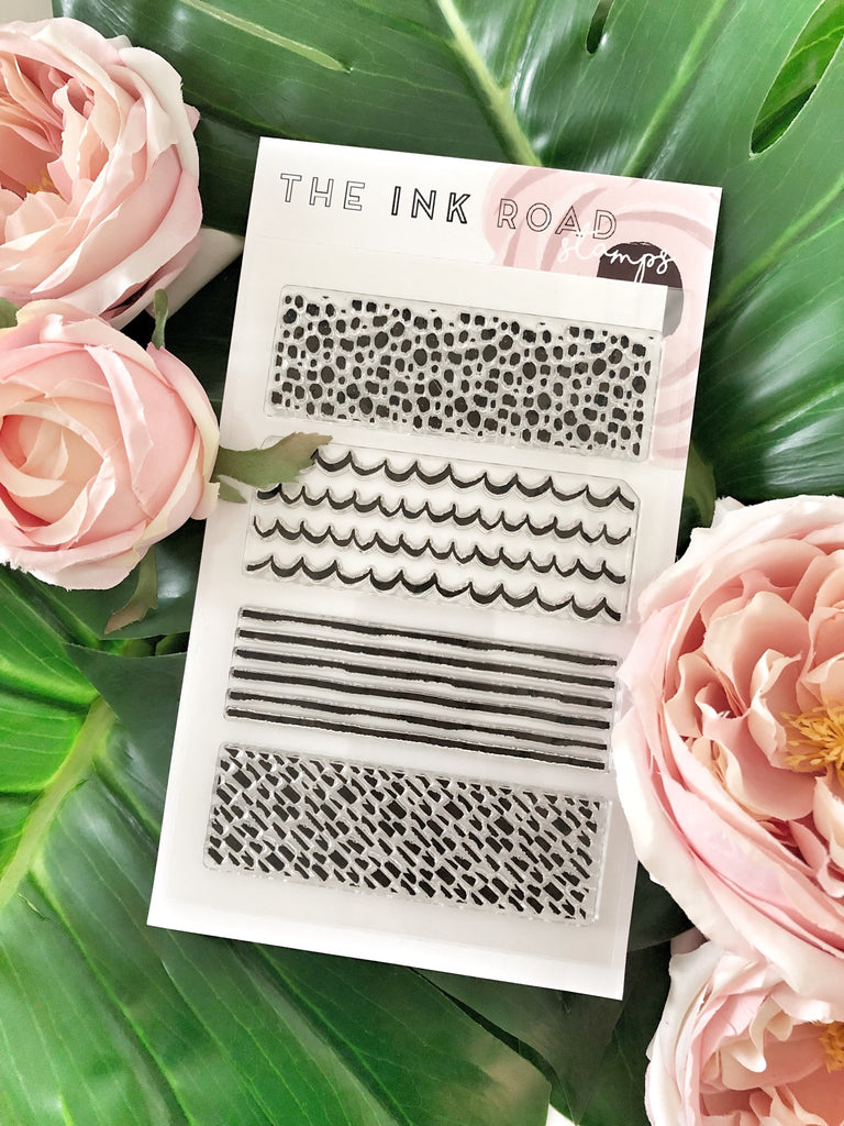 Between The Lines Clear Stamp Set | Ink Road Stamps