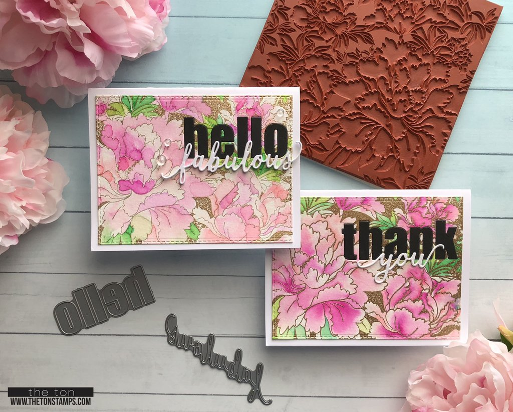 Blooming Peony Garden Cling Background - The Ton
