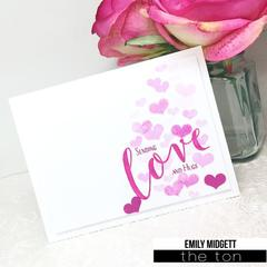 Bokeh Burst Heart - The Ton Clear Stamps