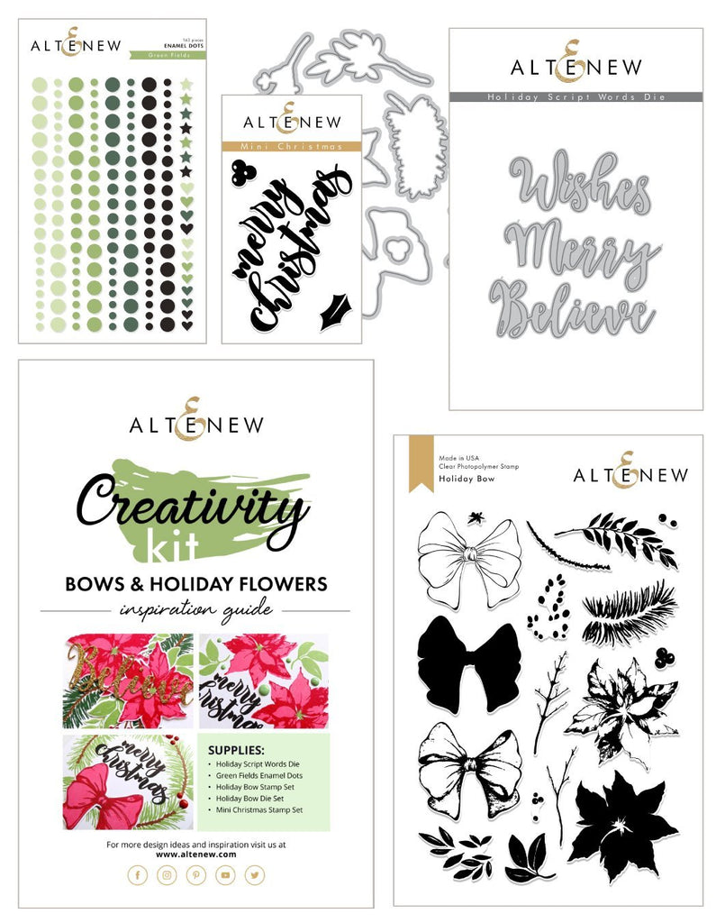Bows and Holiday Flowers Creativity Kit